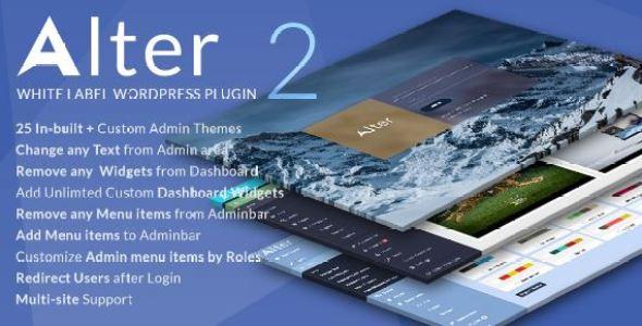 WpAlter v2.3.4 - White Label WordPress Plugin