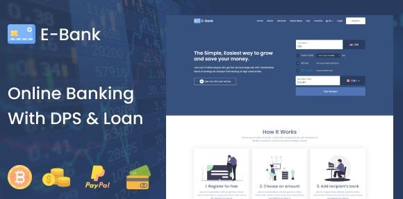 E-Bank - Complete Online Banking System With DPS & Loan