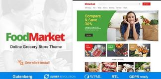 Food Market - Food Shop & Grocery Store WordPress Theme