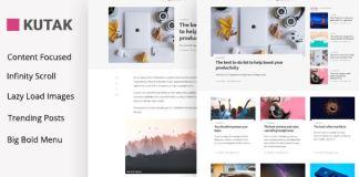 Kutak - Minimal Blog WordPress Theme