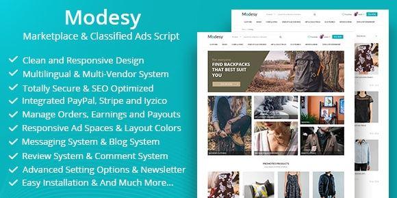 Modesy v1.8.2 – Marketplace & Classified Ads Script