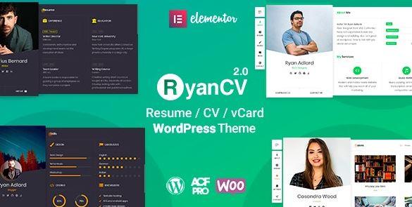 RyanCV v2.0.5 – CV/Resume WordPress Theme