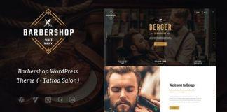 Berger | Barbershop & Tattoo WordPress Theme