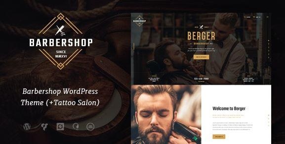 Berger  Barbershop and Tattoo WordPress Themes