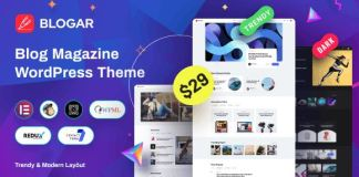 Blogar - Blog Magazine WordPress Theme