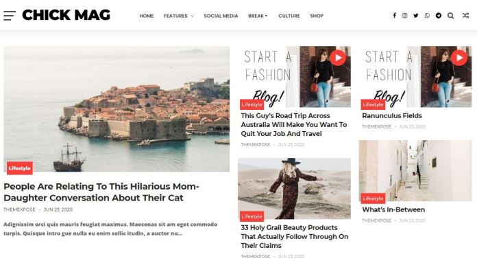 ChicPro Responsive Blogger Template