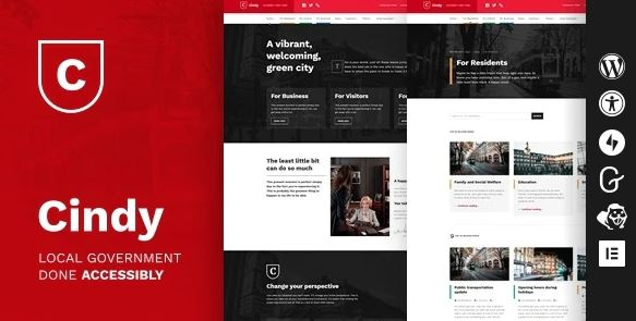 Cindy v1.0.14 – Accessible Local Government WordPress Theme
