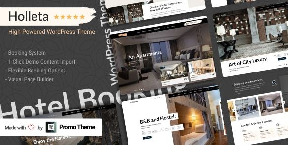 Holleta v1.0.0 – Hotel Booking WordPress