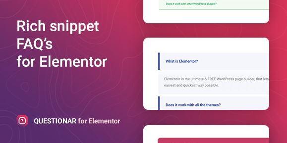 Questionar - FAQ Accordions for Elementor