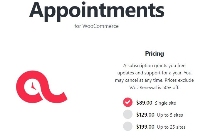 BookingWP WooCommerce Appointment