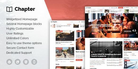 Chapter v1.8 – WordPress Magazine Theme