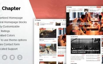 Chapter - WordPress Magazine Theme