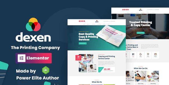 Dexen v1.4 – Printing Company WordPress Theme