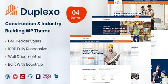Duplexo - Construction Reform WordPress Theme