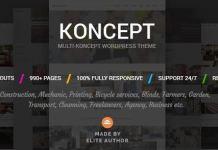 Koncept - Responsive Multi-Concept WordPress Theme