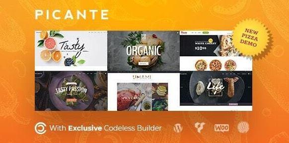 Picante   Restaurant WordPress Theme