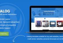 Catalog   Buy Sell / Marketplace Responsive WordPress Theme