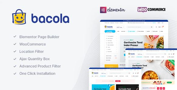 Bacola - Grocery Store and Food eCommerce Theme