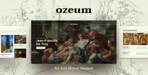 Ozium - Modern Art Gallery and Creative Online Museum WordPress Theme