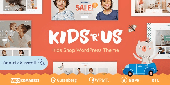 Kids and Us - Toy Store and Kids Clothing Store Themes
