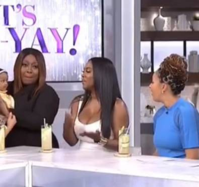 Watch: Kenya Moore Talks Returning To 'The Real Housewives of Atlanta,' Brings Her Adorable Daughter Brooklyn Daly at 'The Real'