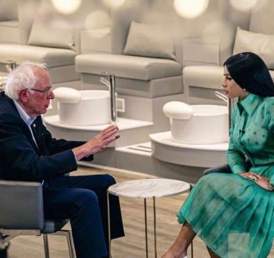 Use Your Voice, Use Your Platform: Cardi B Sits Down with Bernie Sanders For 2020 Presidential Campaign Video To Appeal To Young Voters