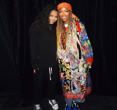 Hot Shots: Brandy & Janet Jackson Pose It Up In Australia at 'RnB Fridays Live'