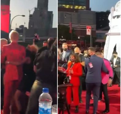 Machine Gun Kelly and Conor McGregor Get Into Altercation on MTV VMAs Red Carpet, Conor Throws Drinks at MGK and Megan Fox [Video]