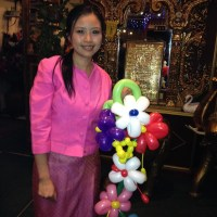 Balloon modelling in Thai restaurant