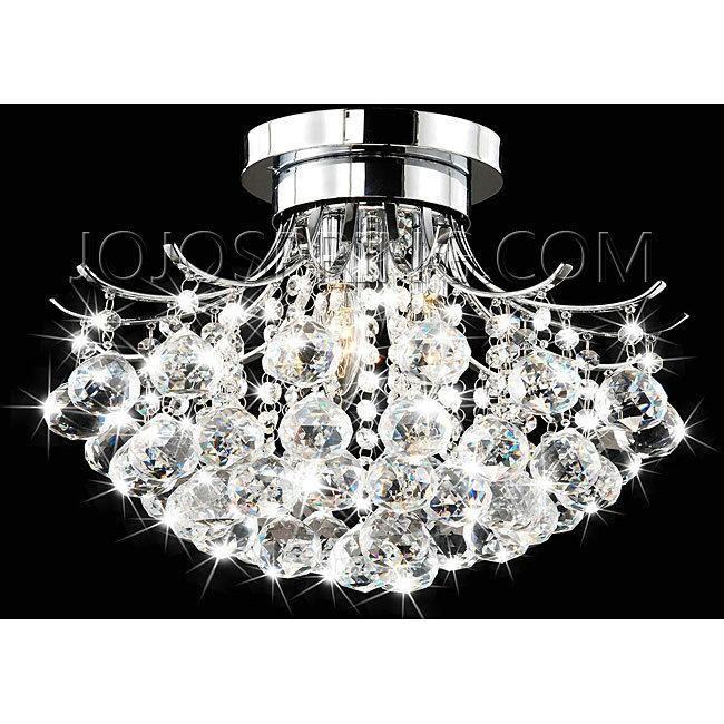 Indoor 3 Light Chrome Crystal Chandelier Bcs 031 3fs