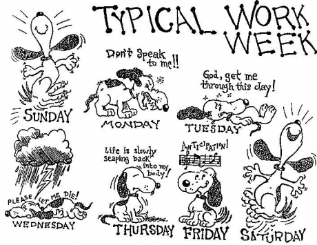Snoopy's Typical Work Week
