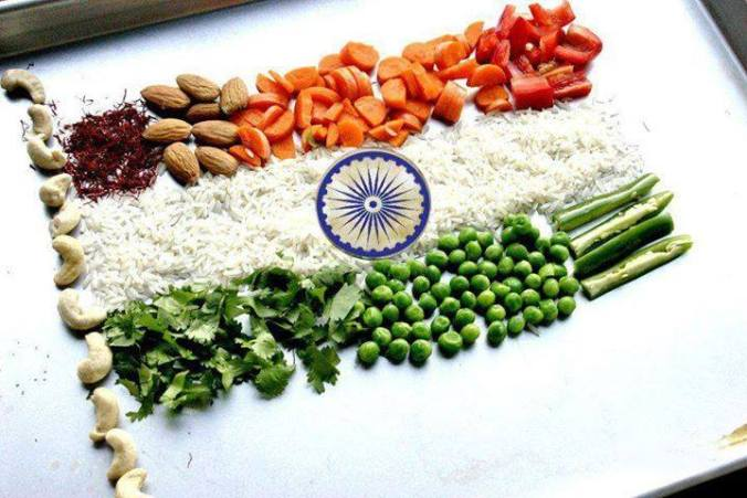 indian flag vegetables