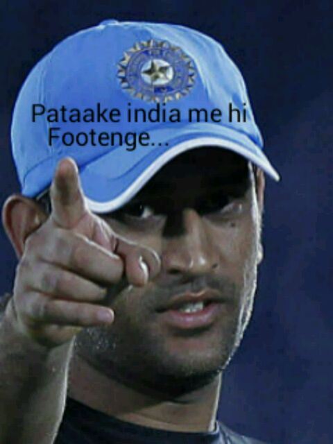 dhoni india pakistan patakhe meme