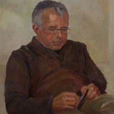 Bert, olieverf op paneel, 52 x 52 cm