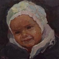 Yasmin, olieverf op paneel, 20 x 20 cm