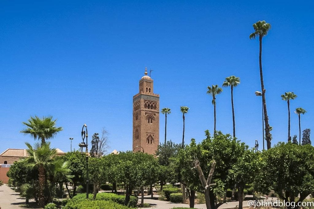 Jardins Koutoubia, Marraquexe, Marrocos