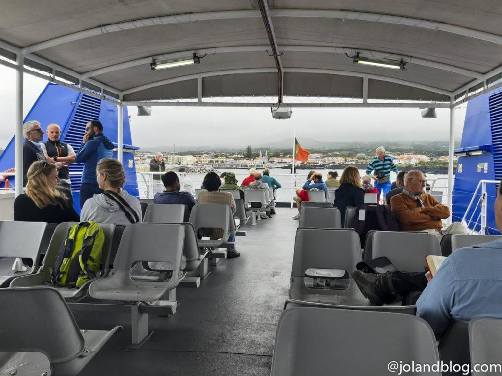Ferry entre o Faial e a Ilha do Pico