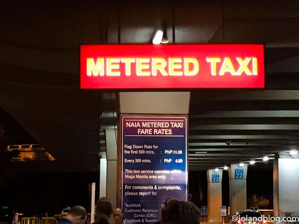 Zona de Táxis, aeroporto de Manila | Transportes em Manila