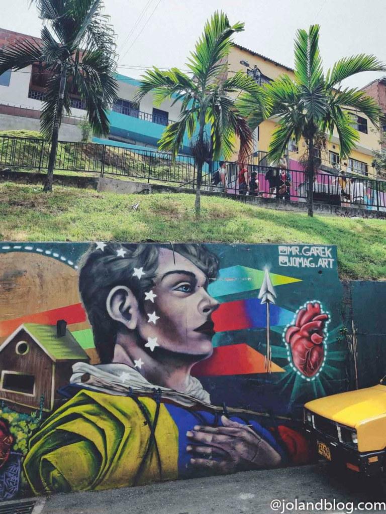 Grafiti na Comuna 13 em Medellín