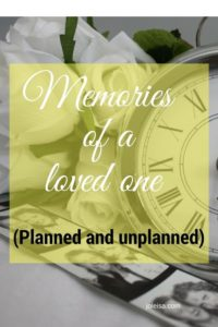 After my son died, I had some unpleasant memories. Now I plan some of the memories I have and you can too! Most people will lose a loved one in their life time. So read now or save for later.