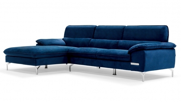 Blue Leather Sectional Sofa Chaise