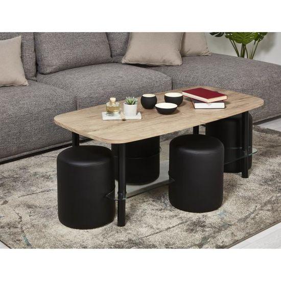 table basse avec poufs classement