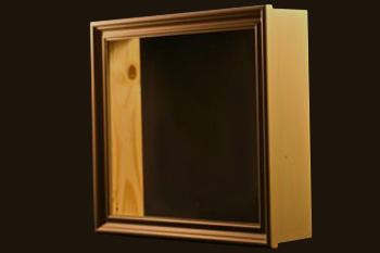 cadre vitrine avec lampe