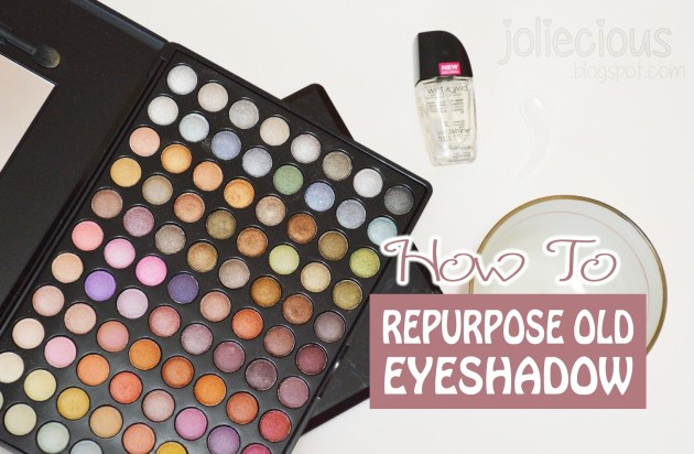 repurpose and reuse old eyeshadow