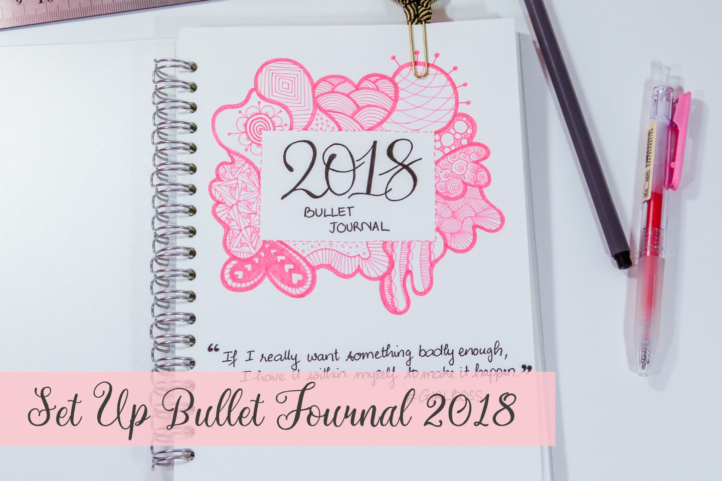 2018 Bullet Journal Flip Through - 2018 Set Up - Joliecious