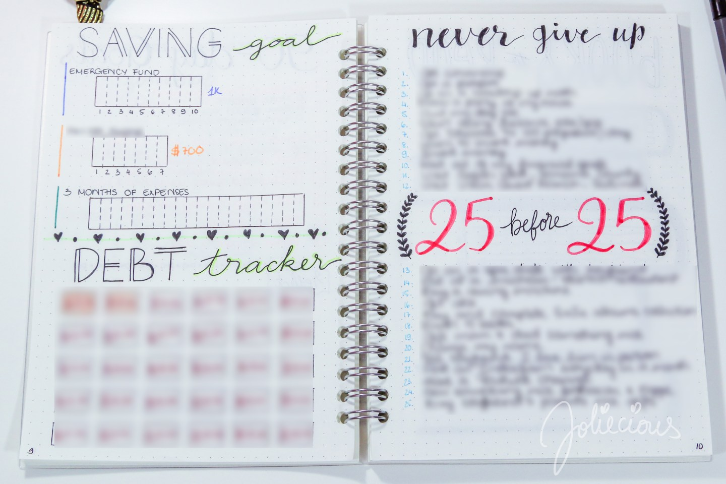 Bullet Journal Flip Through - 2018 Set Up - Joliecious