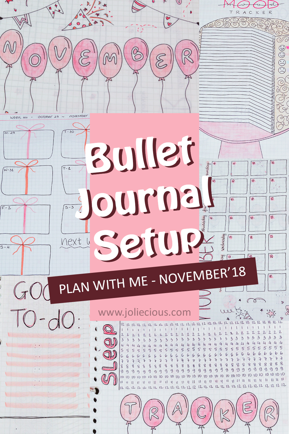 plan with me november bullet journal setup