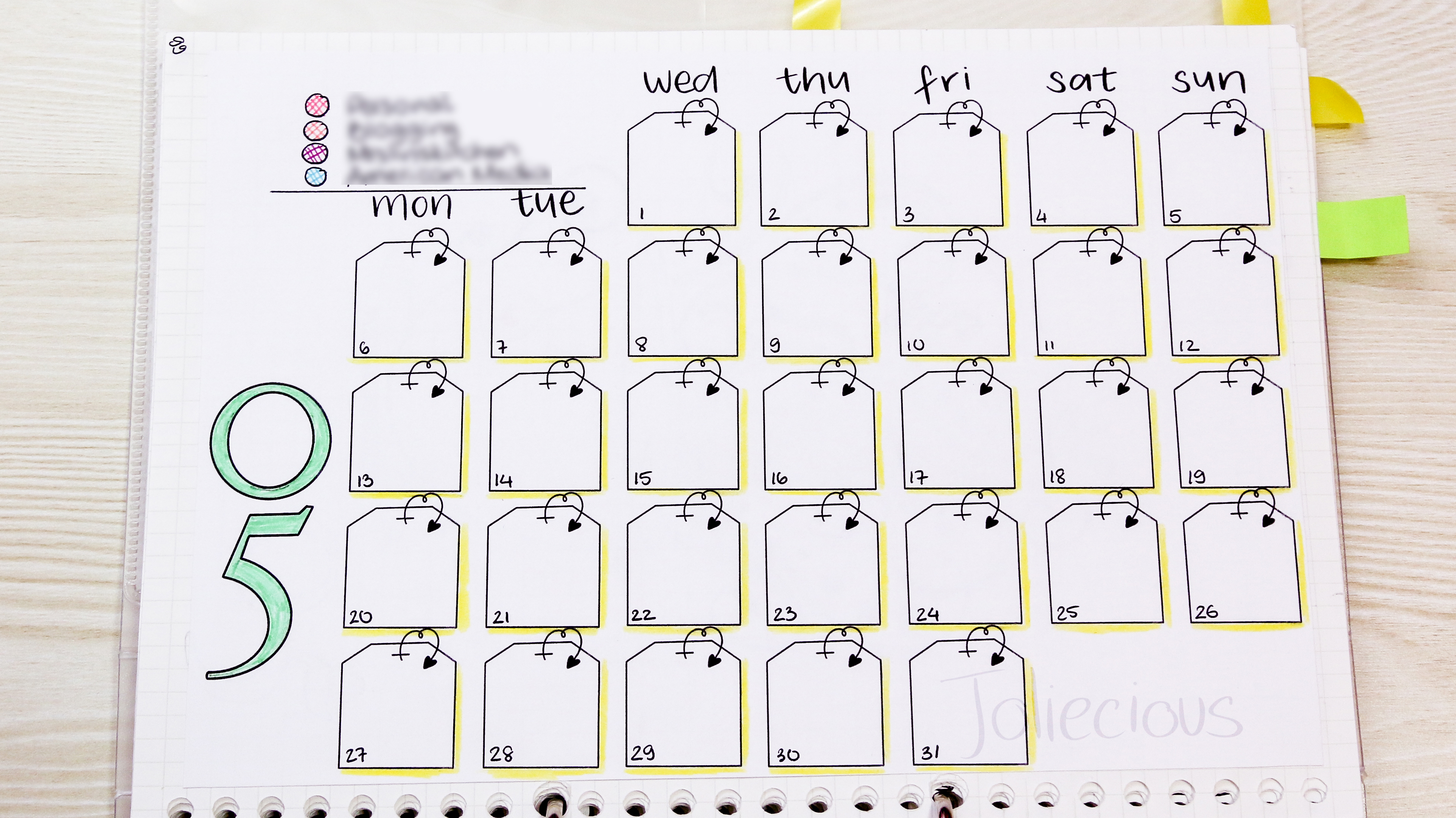 photo about Bullet Journal Symbols Printable titled May well 2019 Bullet Magazine Set up: Tea Topic Application with Me