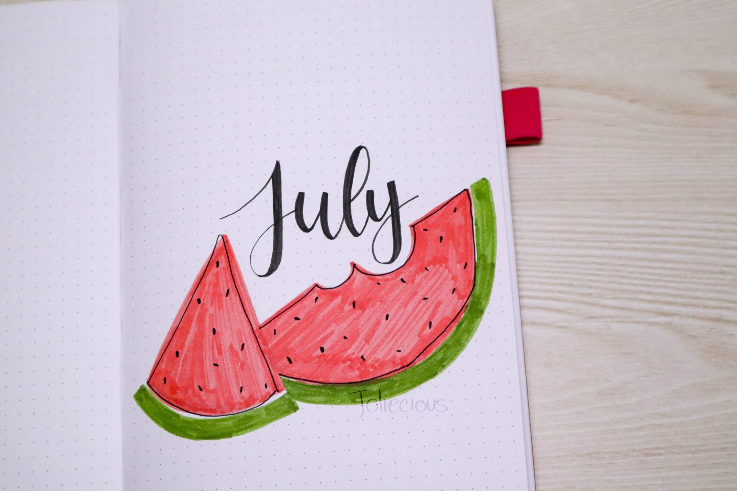 July 2019 Bullet Journal Setup