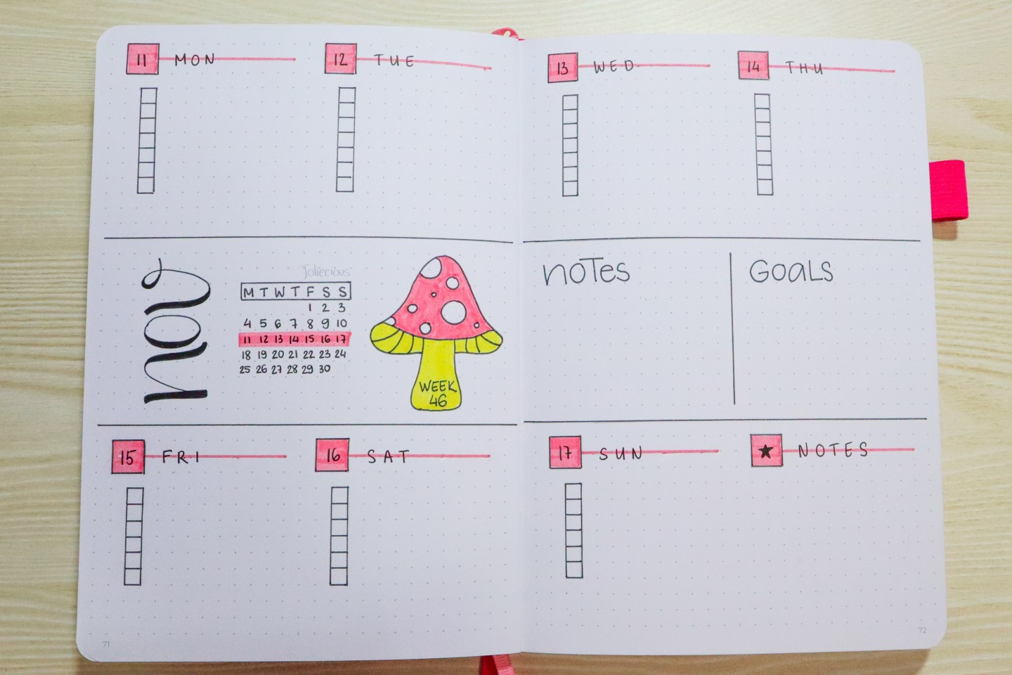 November 2019 Bullet Journal Setup
